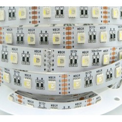 Ruban LED couleur + blanc chaud -14.4w-12v-IP40-PRO
