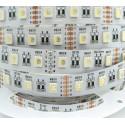 Ruban LED couleur + blanc chaud -14.4w-12v-IP40-PRO