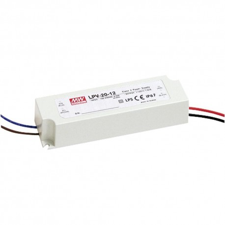 ALIMENTATION 12V-20W MEANWELL LPH-20-12