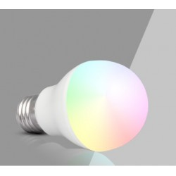 Ampoule LED-E27- 6w- couleurs + blanc chaud