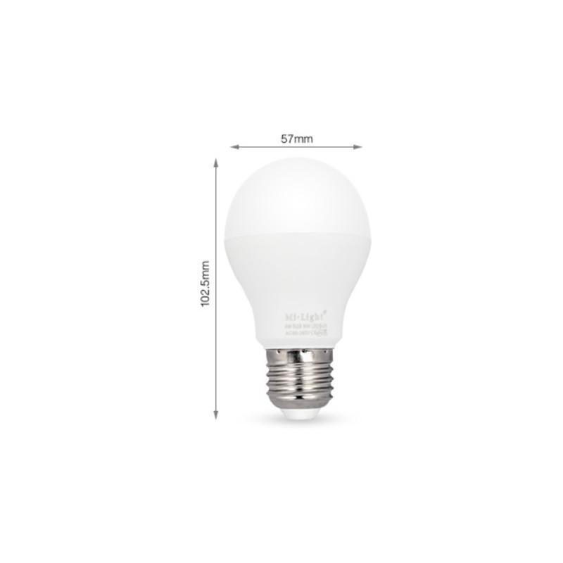 ampoule led e27 6w couleur et blanc chaud pilotable par t l commande. Black Bedroom Furniture Sets. Home Design Ideas