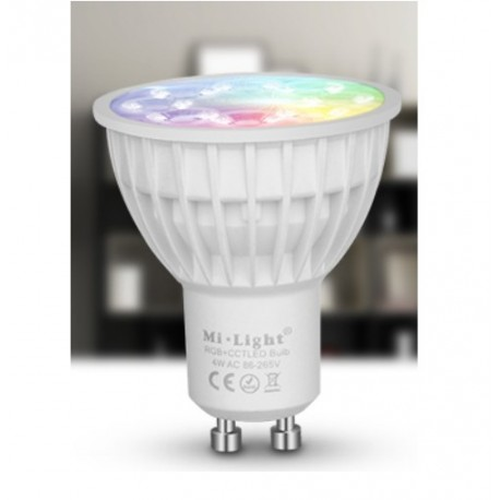 Ampoule GU10 LED 4w wifi RGB CCT Milight
