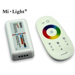 Télécommande + récepteur pour ruban LED RGB (couleur)  MILIGHT