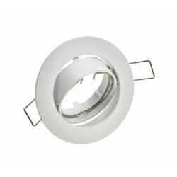 Spot rond blanc orientable  (sans douille)