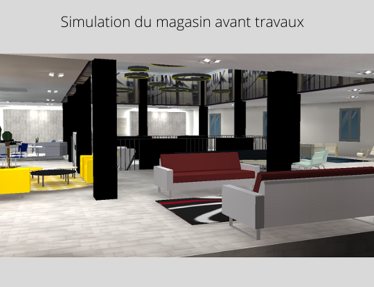 simulation magasin avant travaux